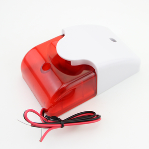 Image 5 - Free Shipping!5pcs/Lot 12V Mini Indoor Wired Siren with Red light Flash Sound Home Security Alarm Strobe System 110dB Hot Sale