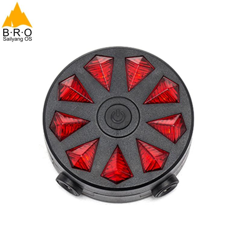 Հեծանիվ լույսեր 2 լազեր 9 LED - Հեծանվավազք - Լուսանկար 4