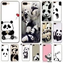 Phone Case Sketches Panda for iPhone 6 6s 7 8 Plus 11 Pro X XR XS Max 5 5s Se Cover Protection
