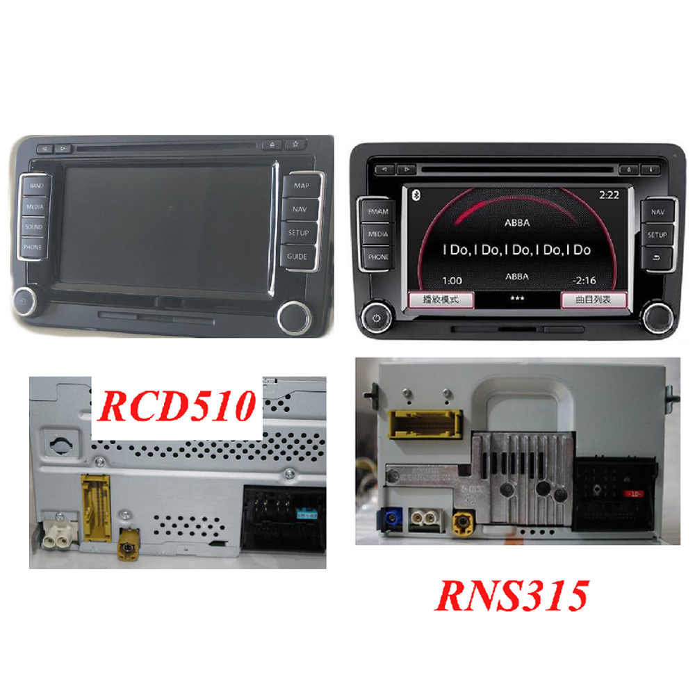 US $8 18 10% OFF RNS315 RCD510 USB Audio Switch Cable For Volkswagen Golf  Polo Headunit RCD510 RNS315-in Cables, Adapters & Sockets from Automobiles  &