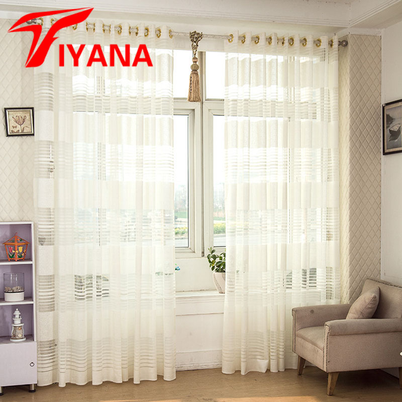 Aliexpress.com : Buy Modern White Striped Curtains For
