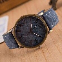Relojes de Marca de Lujo de Los Números Romanos Retro Reloj de Pulsera Banda de Cuero Analógico Reloj de Cuarzo relogio masculino Vaquero Nuevo