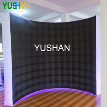 10/8ft LED Inflatable Photo booth Wall Backdrop white&black Portable wall stand with Strips For Christmas party