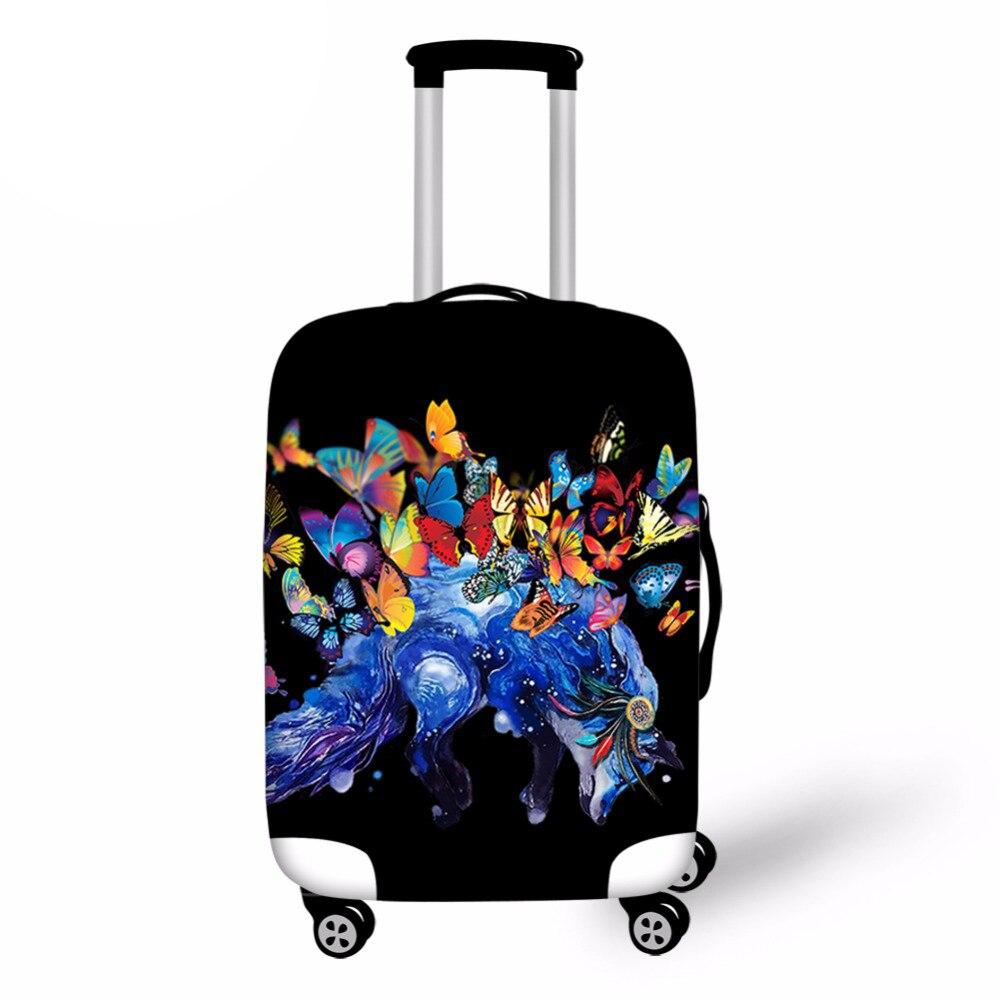 С принтом бабочки тележки чемодан защитная крышка 18-28 дюймов эластичные Чемодан крышка камера случае дорожные аксессуары