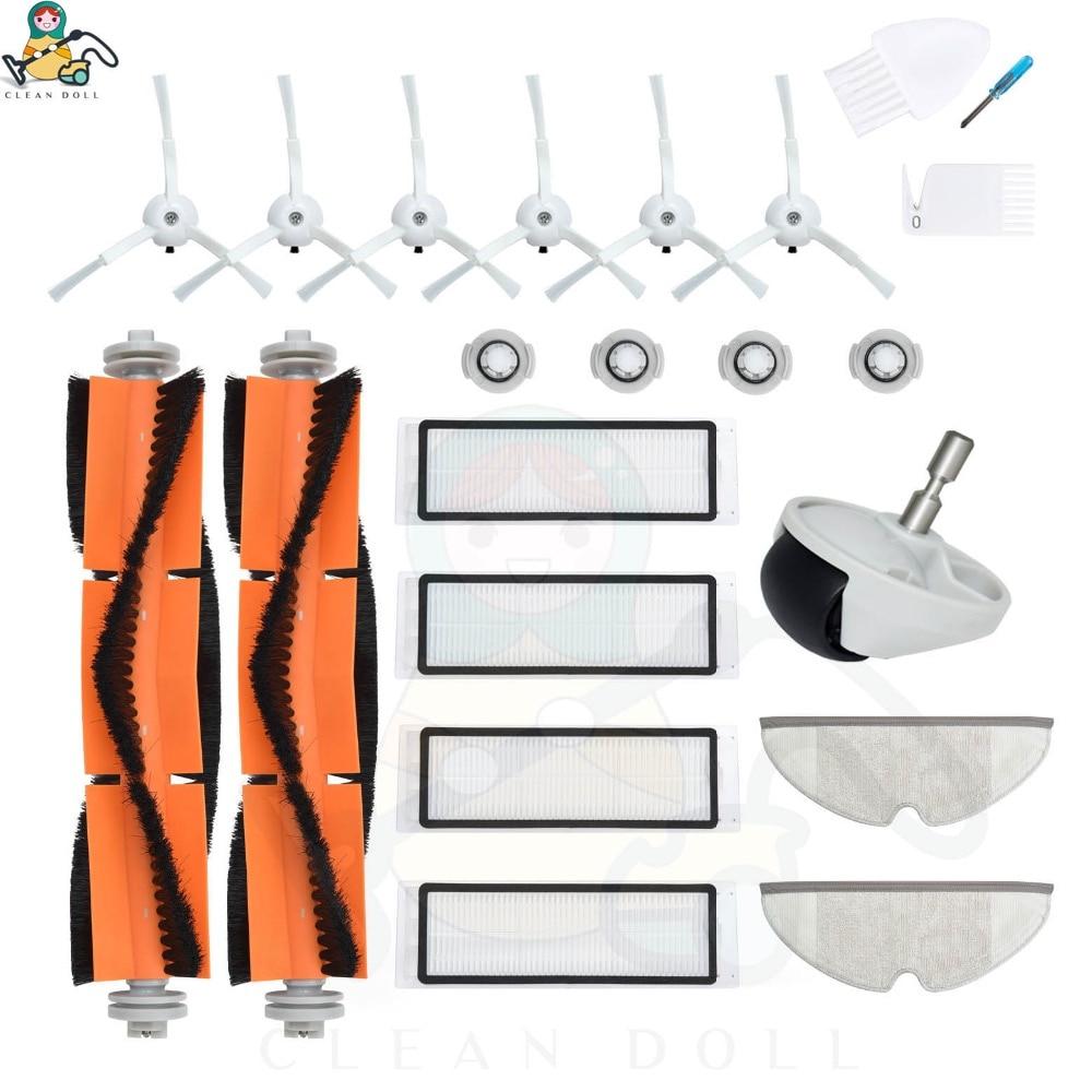 Parts Mop Pads Roller Brushes HEPA Filter For Xiaomi Roborock S5 S6 S60 S65 S50 S55 1S  E25 Xiaomi Vacuum Cleaner Accessories