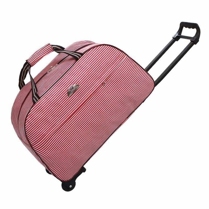 2017 Wheel Luggage Metal Trolley Travel Bag Hand Luggage Rolling Duffle  Bags Waterproof Oxford Suitcase Wheels cebe6ee47ec49