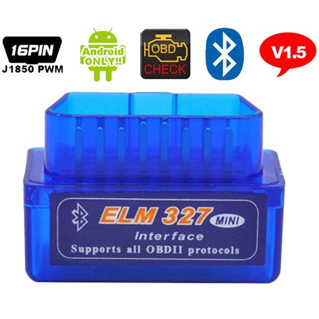 ELM 327 V1.5 ELM327 Bluetooth OBD2 v1.5 Android Car Scanner Automotive OBD2 Auto Diagnostic Tool OBDII Scaner Automotriz
