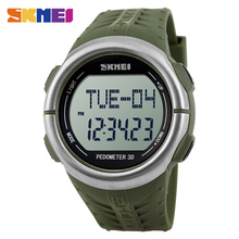 SKMEI de Fréquence Cardiaque Numérique Montres Hommes Mode Casual Électronique LED Montres Alarme Horloge Militaire Montre 1058