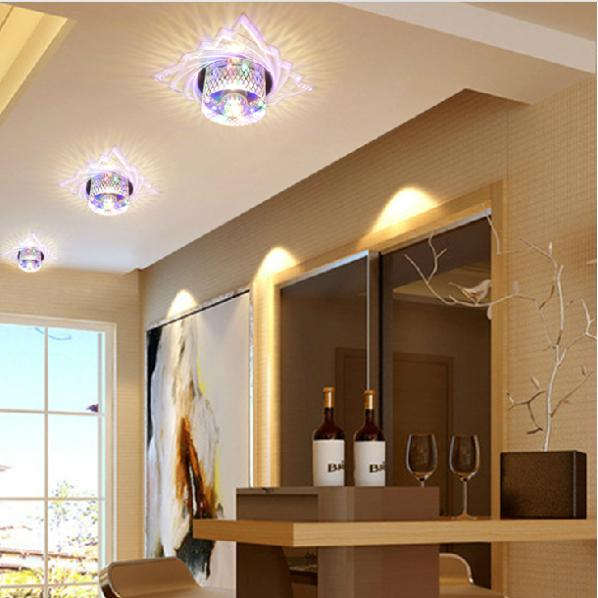 Colorpai Crystal lamps modern simplicity the corridor lights Ceiling Light lamp led wall LED 5W abajur lights led kitchen lights balcony corridor ceiling lamps with the modern minimalist bathroom toilet waterproof panel lamp