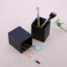 1pcs Makeup Brush Holder Empty Black Box Magnetic Makeup Brushes Organizer Holder PU Leather Square Cosmetics Container Cases