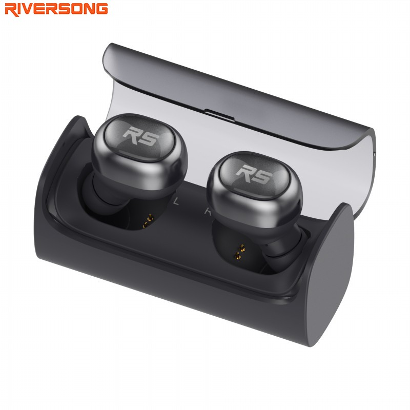 RIVERSONG AirX 2 Airpods Bluetooth Earphones Wireless 3D Stereo Headphones Headset Charging Case Headset for iPhone 7 Android remax 2 in1 mini bluetooth 4 0 headphones usb car charger dock wireless car headset bluetooth earphone for iphone 7 6s android