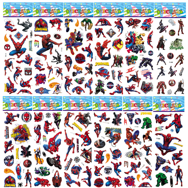 1pcs Avengers Super Heroes End Game Iron Man Spiderman 3D Puffy Bubble Marvel Sticker Kids Toy Reward For Phone Notebook Luggage