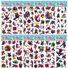 1pcs Avengers Super Heroes End Game Iron Man Spiderman 3D Puffy Bubble Marvel Sticker Kids font