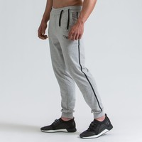 TEMENGSI New Men Running Pants Sweatpants Sport Trousers Pockets Solid Workout Bodybuilding Gym Fitness trousers Joggers