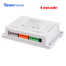 SONOFF 4CH R2 Smart Switch 4 Gang Wifi Remote Control 2200W 10A Smart Home Automation Modul Sistem Untuk IOS Android Controller