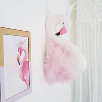 45cm Flamingos Plush Toy Wall Decor Suffed Animals Toys Soft Toy Art Hanging Dolls Swan Pink Toys for Kids Bedroom Wedding Gift