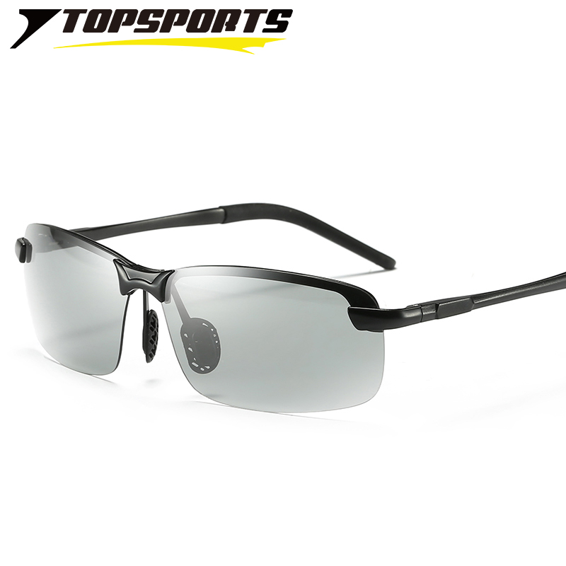TOPSPORTS photochromic polarized Sunglasses nickel free alloy font b sports b font men driving HD day