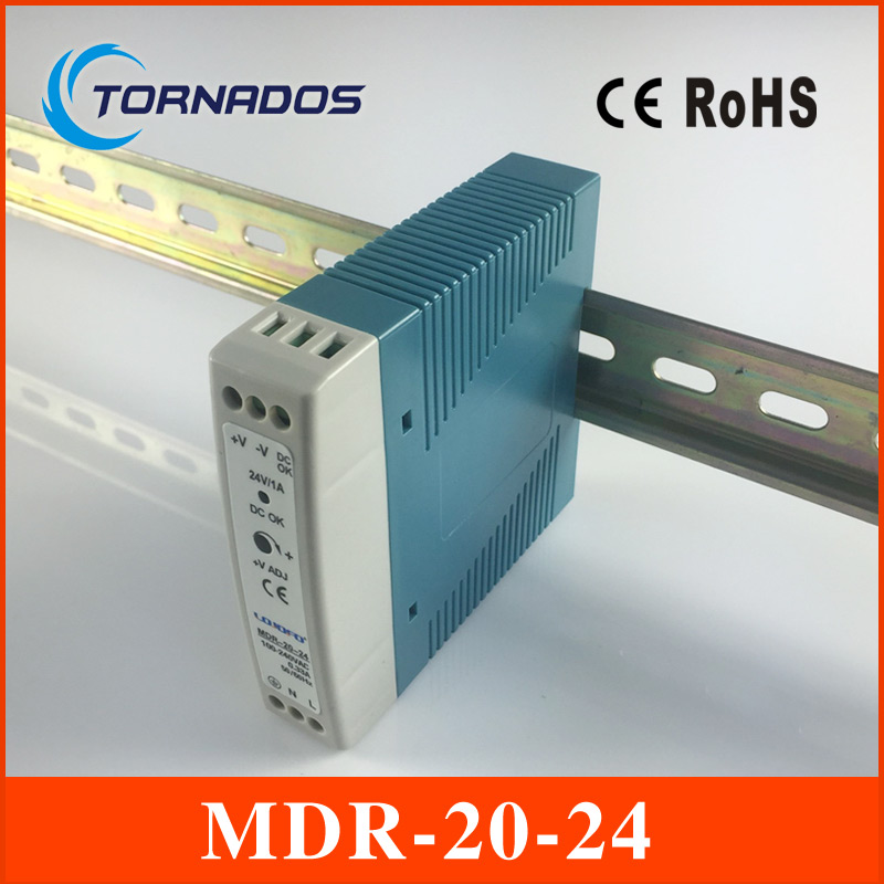 MDR-20-24 DC OK relay contact 24v 1A watts switching power  ac to dc Din rail mounted Po ...