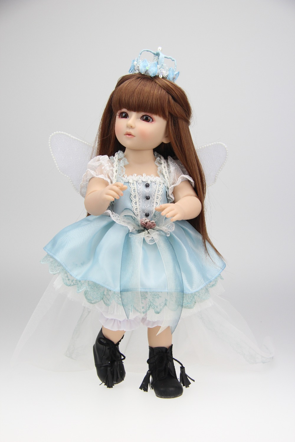 hot selling SD/BJD doll 18inch top quality handmade doll gift for kids hot newest 18 inch handmade vinyl doll bjd doll with dress beautiful princess doll toy for children christmas gift