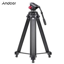 Andoer Professional Aluminum Alloy Camera Video Tripod for Canon Nikon Sony DSLR Recorder Panorama Fluid Hydraulic Head Ballhead