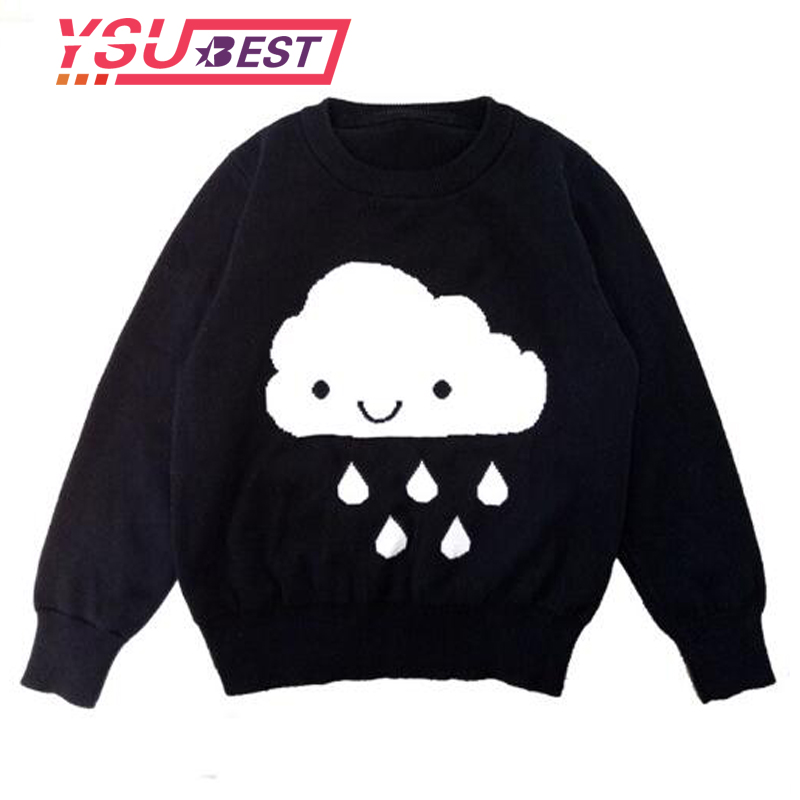Spring Autumn Childrens Girl Clouds Sweater Kids Knitwear Sweaters For Boys Baby Cotton Sweater Fashion Design Girls Cardigan