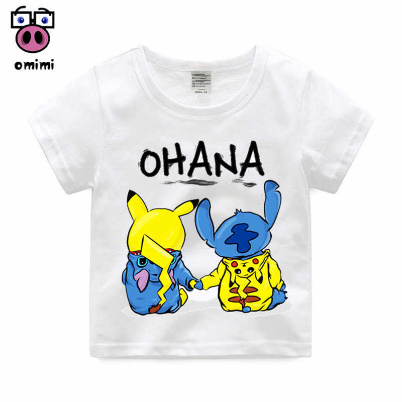 d087ed7bbe31 Detail Feedback Questions about 2 14 Year Old,Kid Cartoon Stitch and Lilo/ Pikachu/BB 8/Pikachu T shirt Kids Pika chu Funny Clothes Baby Short Sleeve T  shirt ...