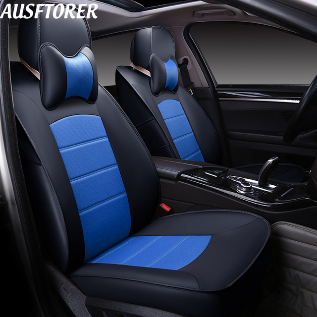 AUSFTORER Cowhide Cover Seat Car For Acura RDX Automotive Leather - Acura rdx seat covers