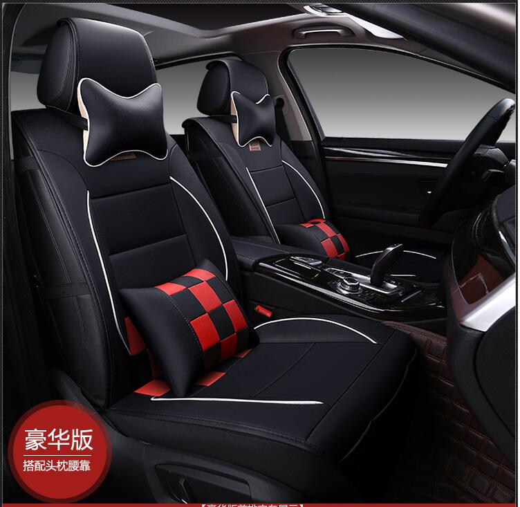 Hot Sales Luxury Leather Pu Leather Car Seat Covers 5 Seat Cover For
