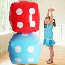 60 см надувные Мягкие кубики в горошек игральные кости Детская игрушка для улицы вечерние поставки пользу рекламные сайт Prop надувной игрушки