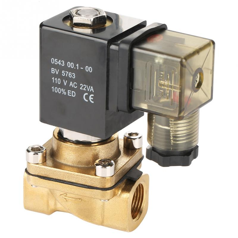 Gut G3/8 g1/4 2 Weg Direkt Wirkenden Normal Geschlossen Magnetventil Elektro Magnetische Ventil 0-1.0mpa 110 V Heimwerker