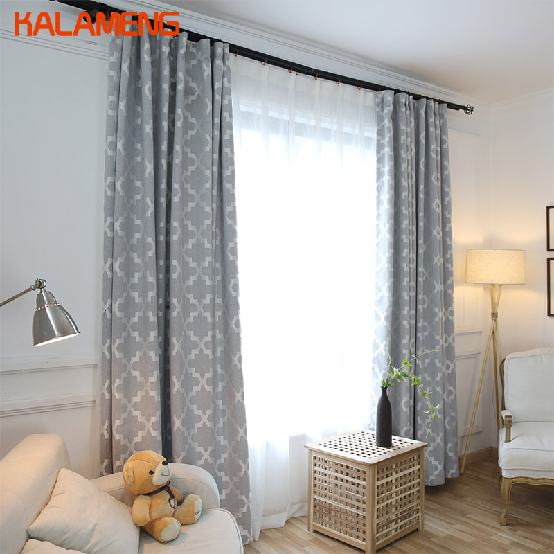 Modern Gray Grey Curtains For Living Room Blackout Curtain Ruffle European Style Black Out Material Nordic Night Roman WB0005