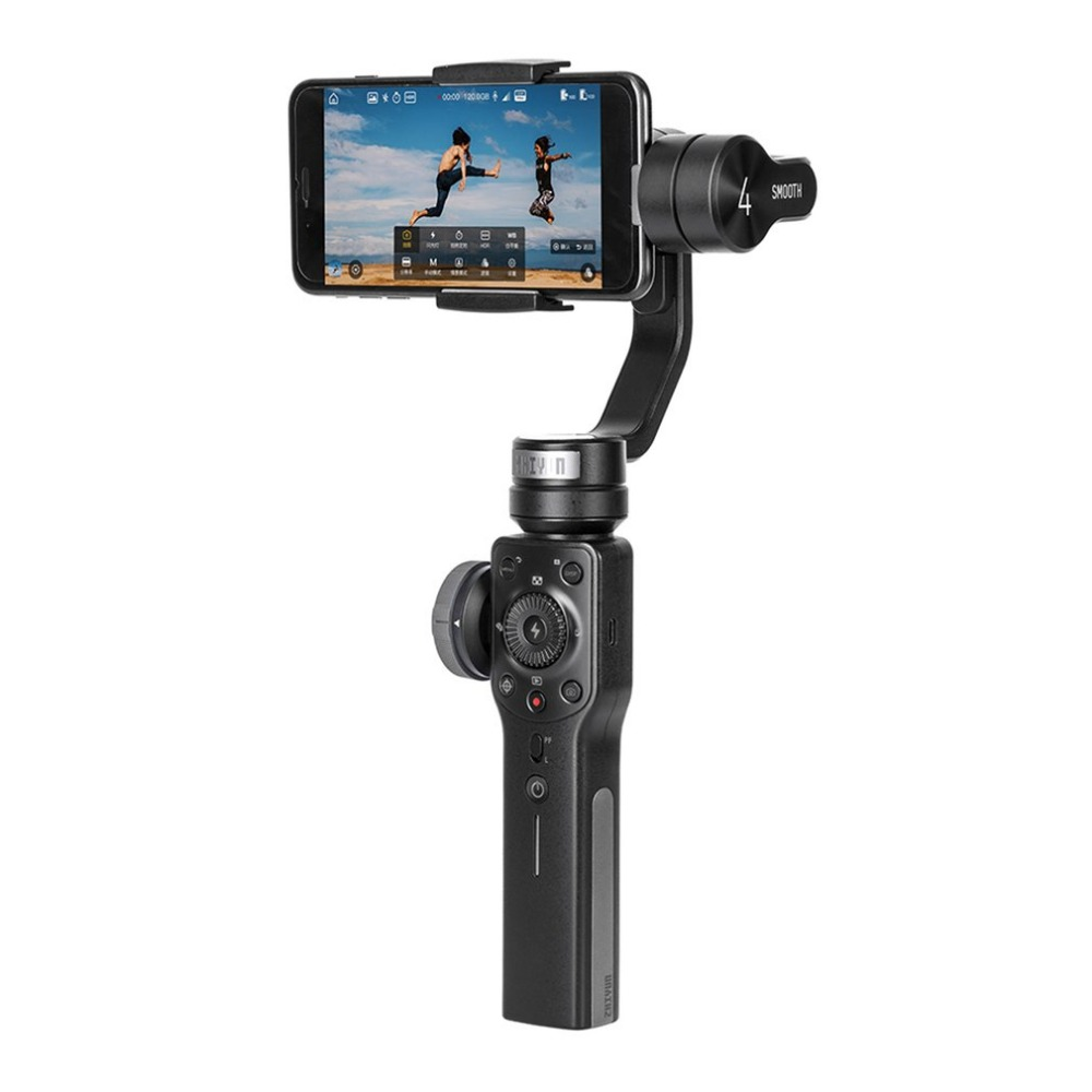 ZHIYUN Smooth 4 Handheld Gimbal 3-Axis Portable Mobile Phone Stabilizer for iPhone X 7 Plus Samsung Camera Smart Holder feikuer stabilizer 2 axis brushless handheld gimbal for smart phone and iphone 6 plus
