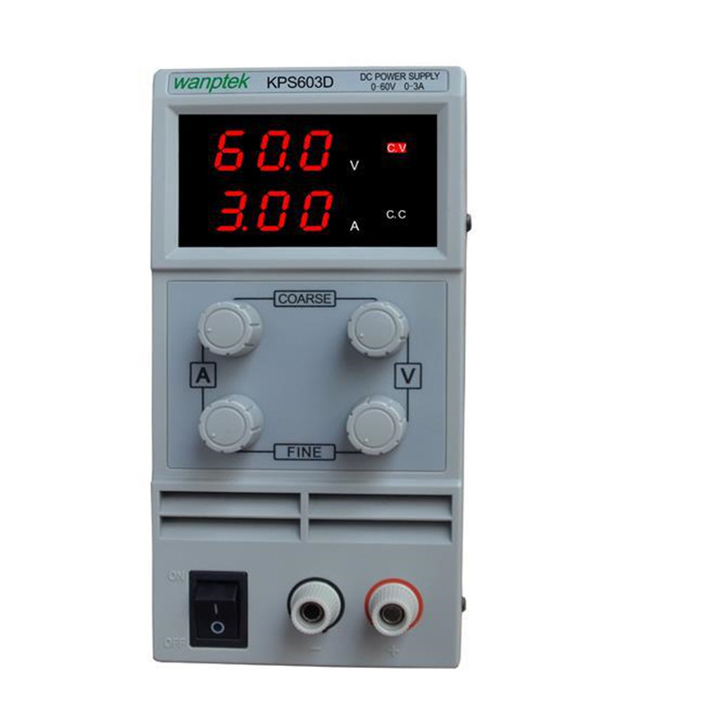 Switching DC power supply KPS603D 60V 3A Single Channel adjustable SMPS Digital 0.1V 0.01A DC power supply rps3020d 2 digital dc power adjustable power 30v 20a power supply linear power notebook maintenance
