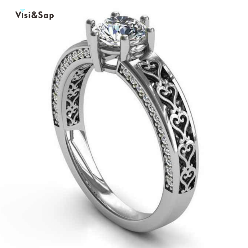 Ring Heart Shaped Pattern Rings