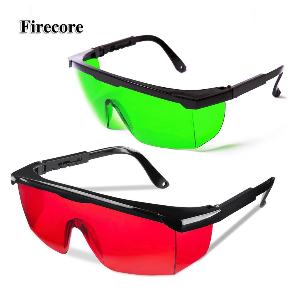 Rosso/Verde Occhiali Laser + Contenitore di Vetro Per Il Livello del Laser