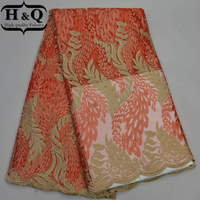 2017 Hot Sales African French Lace Fabric High Quality Pink Nigerian Lace Fabric With Stone Cheap
