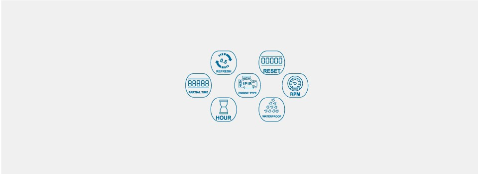 Цифровой сбрасываемый Водонепроницаемый счетчик моточасов бензин Двигатели для автомобиля Тахометр для морской мотоцикла подвесной цепные пилы снегоход