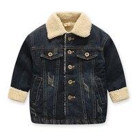 Casual Denim Jackets For Boys Girls Winter Children Outwear Warm Children S Clothing Spring Autumn Kids