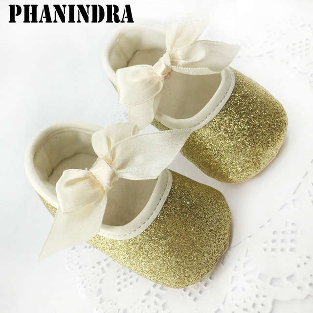 8d8c0b76b172b placeholder New born baby shoes First Walker Girls Toddler Cotton Sequin  with butterfly-knot Infant Soft