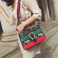 bbbc195c4 2019 Women S Bamboo Handbags PU Leather Luxury Brand Floral Tote Female  Dionysus Medium Shoulder Bag