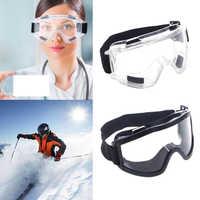 Safety Goggles Ski Snowboard Motorcycle Eyewear Glasses Eye Protection Work Lab