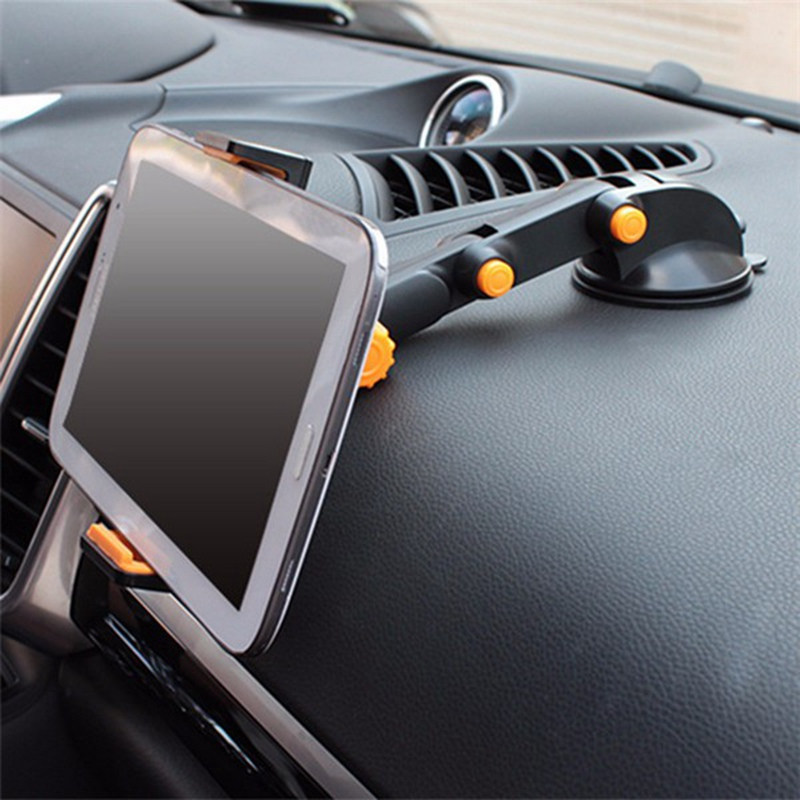 2-in-1 360 Scalable Car Dashboard Sucker Mount Holder Stand For Smartphone Tablet PC Universal AdjustableTablet Stand Holder