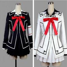 Cosplay del Anime Vampire Knight Yuki Cross Negro o Blanco Para Mujer Vestido de Uniforme