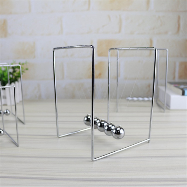 Newton Cradle Perpetual Bumper Figurines Swinging Ball Plastic Model Creative Office Desktop Home Decoration Newton Cradle | Happy Baby Mama