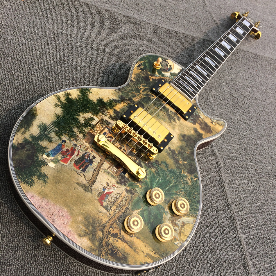 New style high-quality custom LP electric guitar, Gold hardware, free shipping free shipping 2015 high quality electric guitar billy guitar pearly gates signature lp guitar 151101