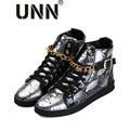 Vapor punkMen Delicados Zapatos de Hip Hop Zapatos de Baile De Lona Tobillo Zapatos Casual Multi Luz Suave Para Caminar Masculinos Ascensor Cordón De Goma