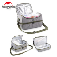 Naturehike 3 In 1 Outdoor Picnic Ice Bag With Boxes Foldable Keep Warm Cold Fresh Lunch