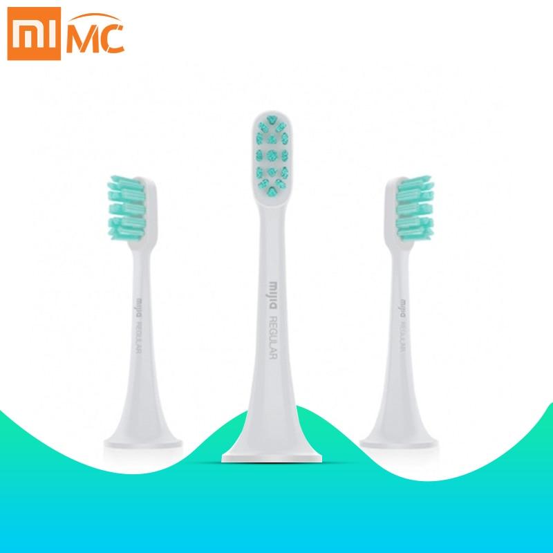 Xiao mi jia, насадки для электрической зубной щетки, 3D, высокая плотность, 3 шт., сменные головки для зубной щетки mi, высокоэффективный уход за полостью рта