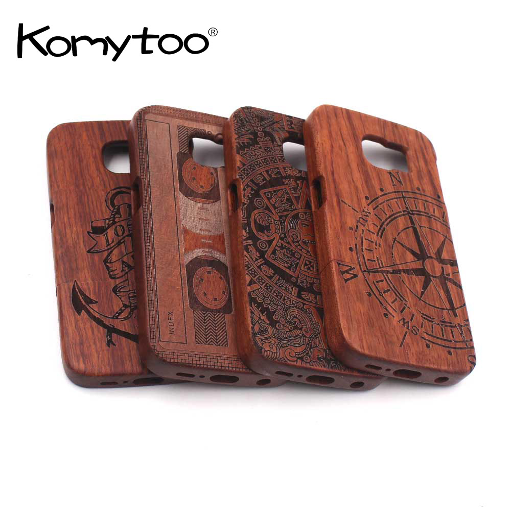 Natural Wood Hard PC Back Case For Samsung Galaxy S7 S6 Edge Plus Wooden Bamboo Protective Phone Case For Samsung Note 5 4