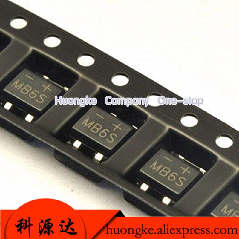 100pcs/lot SMD Rectifier Sop-4 Bridge MB6F MB6S MB8F MB8S MB10F MB10S  MB2S 500MA 200V 600V 800V 1000V